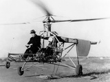 Igor Sikorsky at the Controls of the VS-300 Helicopter Photo