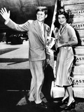 Sen John Kennedy and His Fiancée, Jacqueline Bouvier, LaGuardia Airport, Hyannis, MA, Jun 26, 1953 Photographic Print