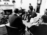 Pres Richard Nixon with Military Commanders from Member Nations of Central Treaty Organization Photographic Print