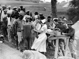 African American Flood Refugees Vaccinated for Typhoid at Camp Louisiana, Near Vicksburg Photographic Print