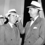 Senator Prescott Bush Presents a New Straw Hat to Vice President Richard Nixon Photographic Print