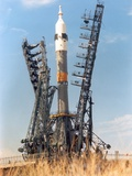Soyuz Spacecraft Launch at the Russian Baikonur Complex in Kazakhstan Photo