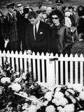 Jacqueline Kennedy and Attorney General Robert Kennedy Visit Pres John Kennedy Grave, Nov 27, 1963 Photo