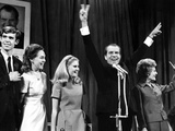 New President-Elect Richard Nixon Strikes a Victorious Pose on Election Night Photographic Print