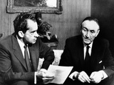 President Richard Nixon Meets with Senate Majority Leader Mike Mansfield Photographic Print