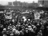 20,000 Unemployed Demonstrate in Chicago's Grant Park Poster