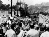 Anti-Vietnam War Protest Near President Richard Nixon's San Clemente Home Photographic Print