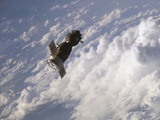 Soyuz 14 Spacecraft Approaches the International Space Station Photo