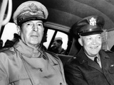 Chief of Staff General Dwight Eisenhower Meets General Douglas MacArthur in Japan, May 10, 1946 Photographic Print