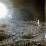 Apollo 12 Astronaut Alan Bean Deploys Scientific Experiments on the Lunar Surface Prints