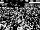 Closing Time on the Trading Floor of the New York Stock Exchange on March 11, 1976 Photographic Print