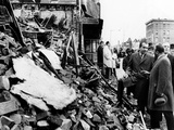 Pres Richard Nixon Visited Scarred 2-Block Area of Northwest Washington Photo