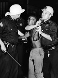 African American Who Has Been Shot in the Leg, Is Restrained by New York City Police Photographic Print
