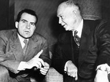 General Dwight Eisenhower with His Running Mate, Senator Richard Nixon Photographic Print