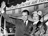 Vice Pres Richard Nixon and Wife Pat, Leave on 8 Nation Goodwill Tour of South America, Apr 27 1958 Photo