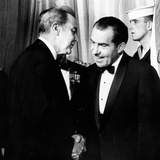 President Richard Nixon Shakes Hands with Sen Eugene McCarthy at White House Reception for Congress Photographic Print