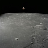 Apollo 12 Lunar Module Intrepid Landing on the Moon's Surface Photographic Print