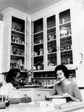 Lady Bird Johnson, in the Kitchen with Her African American Cook, Zephyr Wright Photo