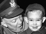 General Dwight Eisenhower with His Three Year Old Grandson, Dwight David Eisenhower II, Nov 5, 1951 Photographic Print