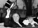 President Franklin and Eleanor Roosevelt Greeting Crowds in Washington DC Photo