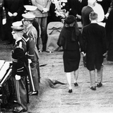 Jacqueline Kennedy and Robert Kennedy at Pres John Kennedy's Funeral, Nov 25, 1963 Photographic Print