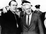 President Richard Nixon Was Met by British Prime Minister Harold Wilson, Mindenhall Air Force Base Photo