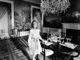 Tricia Nixon in Second Floor Family Dining Room Photographic Print