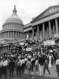 Bonus Army Protests at the Capitol Photographic Print
