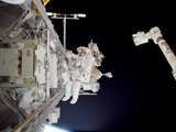 Construction Work on International Space Station Photographic Print