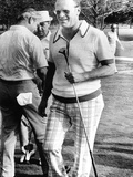 Vice Pres Ford Golfing at Metairie Country Club with Louisiana Congressman David Treen, Aug 4, 1974 Print