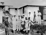 First Lady Eleanor Roosevelt Tours the Virgin Islands Photographic Print