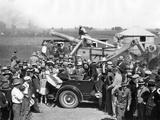 Governor Franklin Roosevelt Campaigning for President in Nebraska Lámina fotográfica