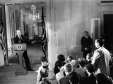 Pres Gerald Ford's First Press Conference as President after Nixon's Resignation, Aug 28, 1974 Photographic Print