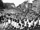 15,000 East German Teenage Girls Parade Through the Soviet Sector of Berlin Photographic Print