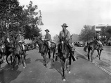 Gas Masked Cavalry on Pennsylvania Avenue Reinforce Washington DC Police Photographic Print