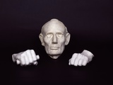 Life Mask and Plaster Hands of Abraham Lincoln Photo