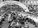 President Richard Nixon and President Sadat Parade in Alexandria, Egypt Photo
