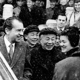 Pres Nixon, Enjoys a Laugh with His Chinese Guides Outside the Forbidden City, Beijing, Feb 25 1972 Photographic Print