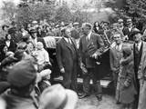 Governor Franklin Roosevelt and Boston Mayor James Curley Appeared Together on Oct 30, 1932 Photo