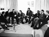 President-Elect Richard Nixon Meets with Civil Rights Leaders Photographic Print