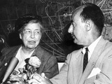 Eleanor Roosevelt Supported Adlai Stevenson for Second Democratic Presidential Nomination in 1956 Photographic Print