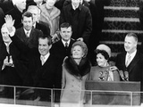 President Richard Nixon Waves to the Crowd During Inaugural Ceremonies at Capitol Hill Photo