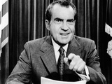 President Richard Nixon Presents a New Vietnam Peace Plan Photographic Print