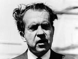 President Richard Nixon&#39;s Bad Hair Day Photographic Print