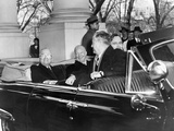 Pres Truman and Pres-Elect Eisenhower Ride to Capitol Together for Inauguration, Jan 20, 1952 Photographic Print