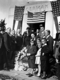 President Franklin Roosevelt at the Grave of Chicago Mayor, Anton Cermak Photographic Print