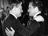 New York Governor Nelson Rockefeller and Former Vice President Richard Nixon Face-Off Photographic Print