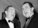 Vice President Hubert Humphrey and Former VP Richard Nixon Wearing Tuxedos, 1965 Photographic Print