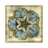 Textured Rosette I Poster by Jennifer Goldberger