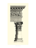 B&W Column and Cornice II Premium Giclee Print by  Vision Studio